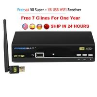 Freesat V8 Super Receptor Satellite 1 Year Cccam Cline Europe Cccam Server HD DVB S2 Satellite