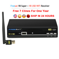 Freesat V8 Super Receptor Satellite 1 Year Cccam Cline Europe Cccam Server HD DVB S2 Satellite