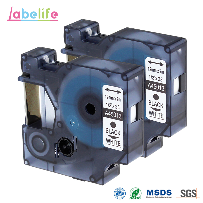 Labelife 2 Pack Compatible Dymo D1 S0720530 45013 DYMO