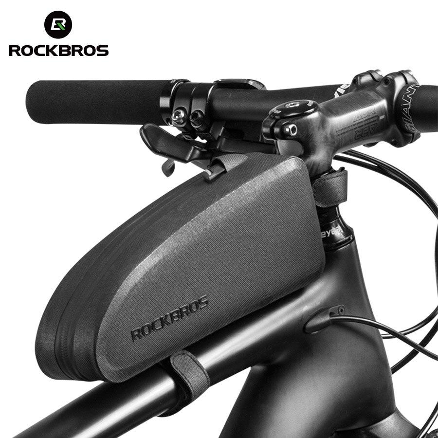 ROCKBROS Bicicletta Borse Impermeabile Ciclismo Top Tubo della Parte Anteriore Del Telaio di Grande Capienza del Sacchetto MTB di Strada Della Bicicletta Pannier Nero Bike Accessori