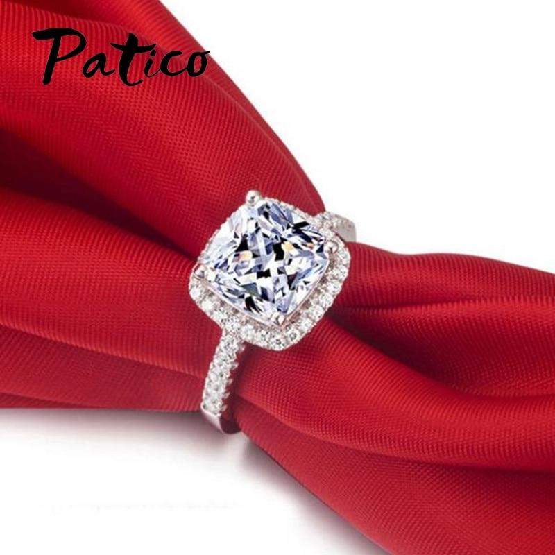 Prabangūs PATICO 100% 925 sidabriniai žiedai moterims Vestuviniai - Mados papuošalai - Nuotrauka 3