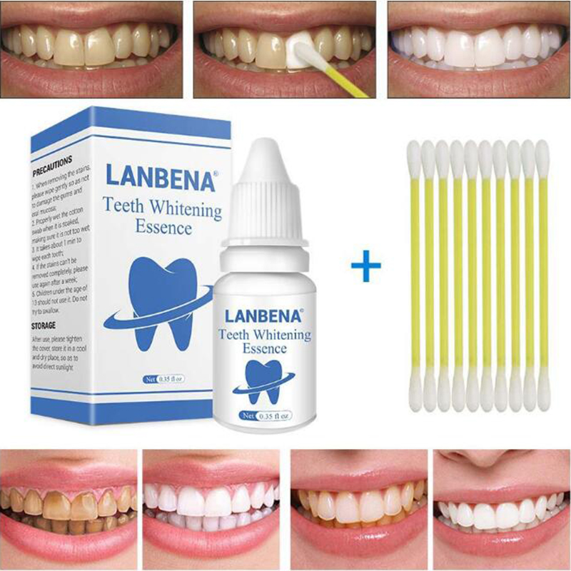 LANBENA Teeth Whitening Essence Oral Hygiene Dental White Tooth Cleaning Tool Strong Removal Tooth  Stains Lasting Bright White