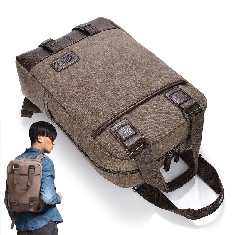Vintage Canvas 13 14 15.6 17.3 Inch Laptop Backpack Travel Computer Notebook Handbag School Bag for Macbook Lenovo Laptop Case