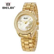 Jewelry watch 2016 BEIBL Brand Fashion Casual Women's Watches Quartz-watch Clock Ladies Gold Wristwatch relogio feminino dourado