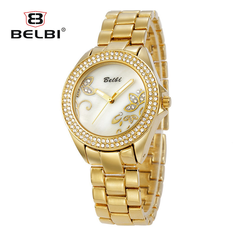 Luxury Flowers Jewelry Watches BELBI Brand Fashion Casual Wo