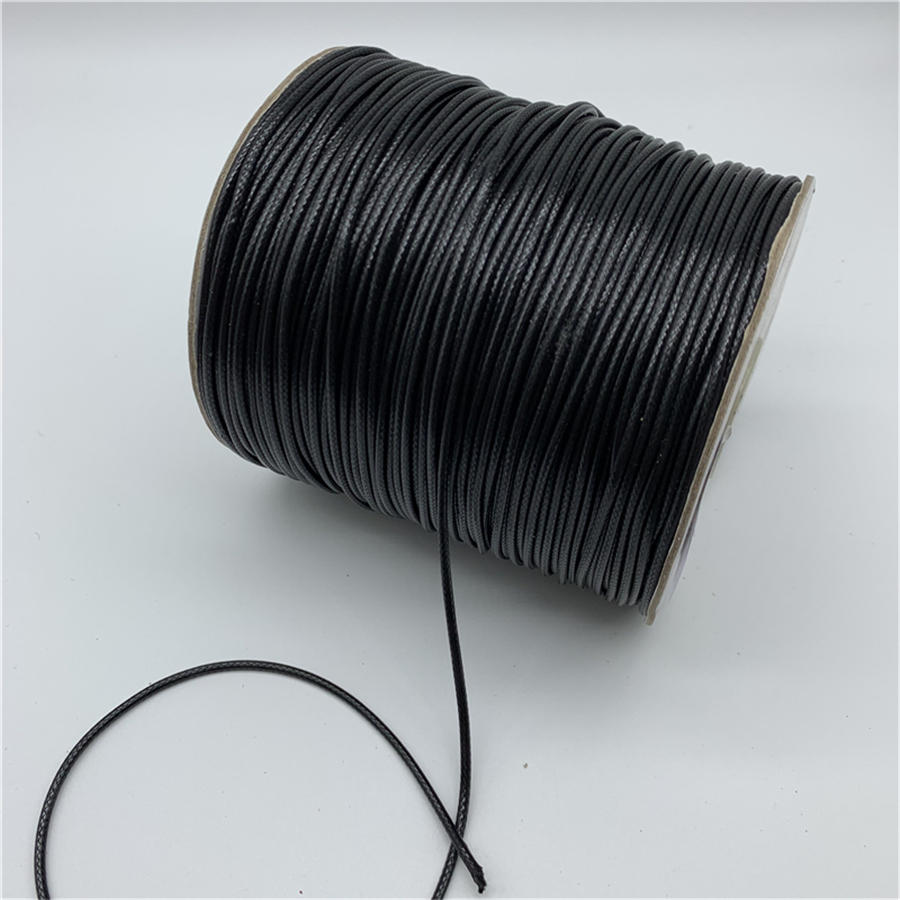 Necklace-Rope Strap Cord Waxed-Thread Jewelry-Making 2mm Black 1mm