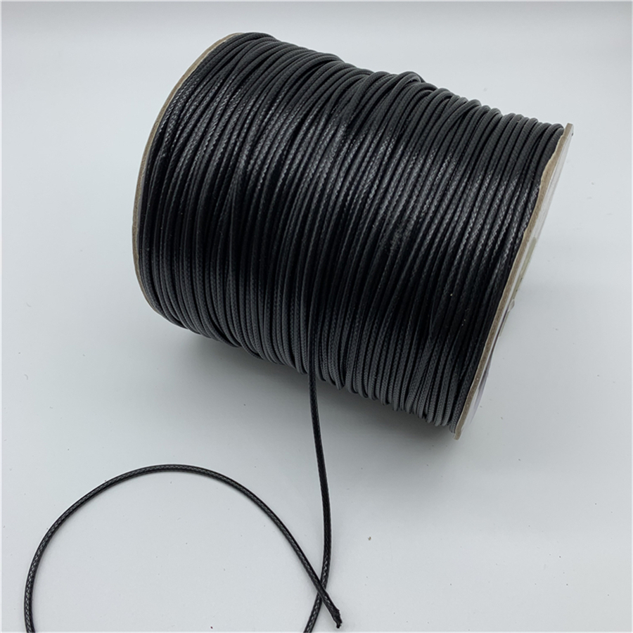 10 Yards Genuine Black Natural Round Cotton Waxed Cord-2mm Jewelry Supplies