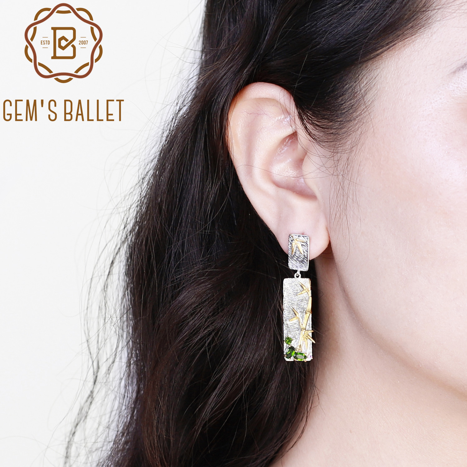 SilverArt 925 Sterling Silver Plated Handmade Blue Topaz Earring for Womens and Girls