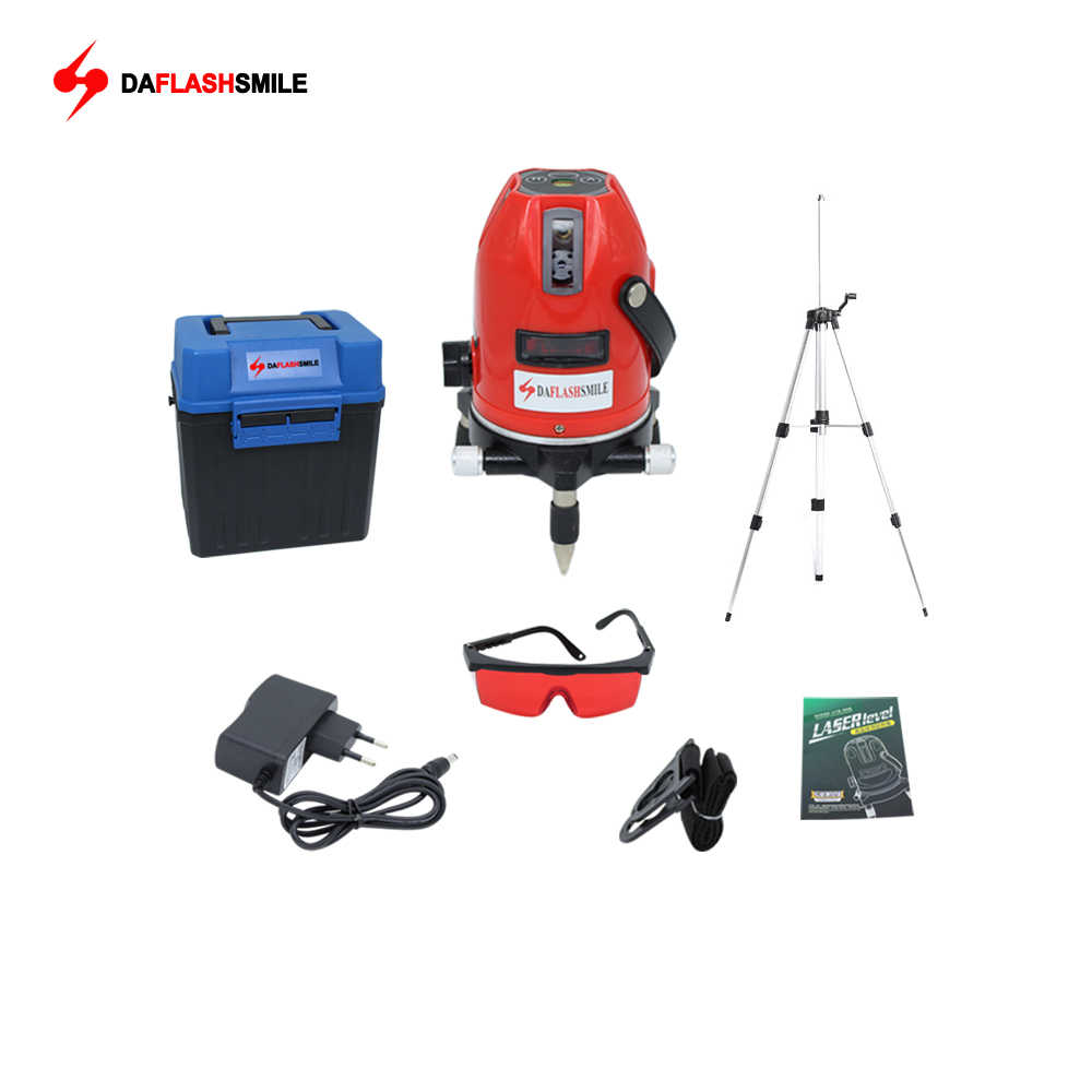 Laser Line 5 Lines 6 Points 360 Vertical & Horizontal Rotary Cross  Laser Level Used Indoor  Outdoor with Receiver