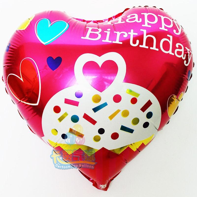 New 18inch red Happy Birthday balloon aluminum foil ballon baby birthday decorat