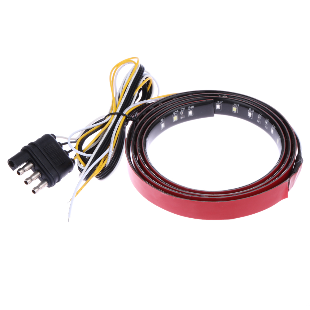 New 22W 49 Flexible LED Car Truck Tailgate Light Bar Red and White 12V 2200LM Signal Indicators Car Rear Lights Car Styling
