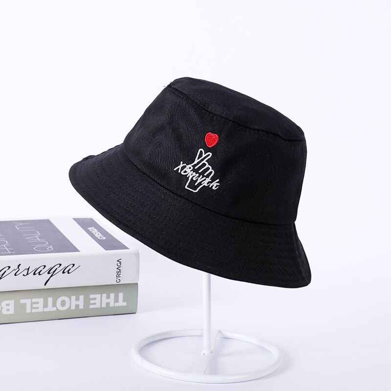 7a0d8858fc08b4 ... New Korean embroidery letters autumn and winter hat women Corduroy  fisherman hat Big sunscreen leisure basin ...