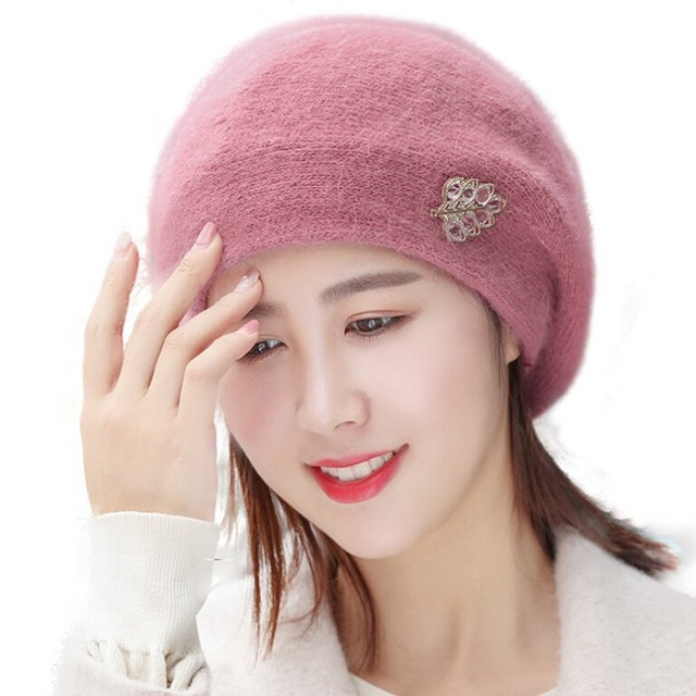 0ad105ae76374 2019 High Quality Women Winter Warm Cap Knitted Hat Beret Baggy Beanie Hat  Slouch Ski Cap Hot Sale  4