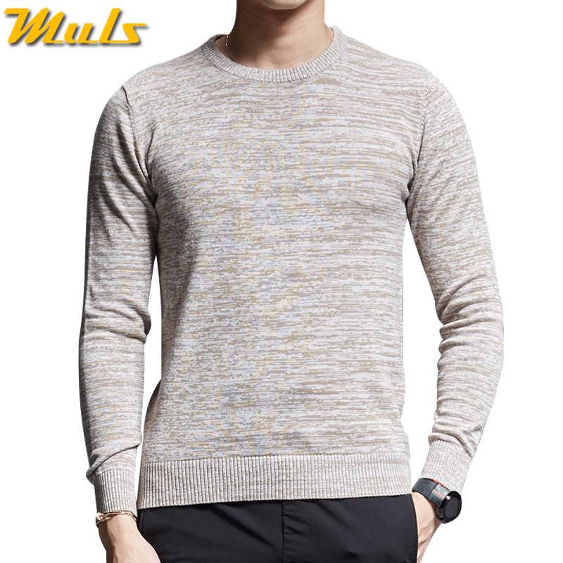 811f6dbbea293 Пуловер мужские свитера осень-зима чистый хлопковый свитер пуловеры мужские  весенние Джемперы Dot Pattern Трикотаж