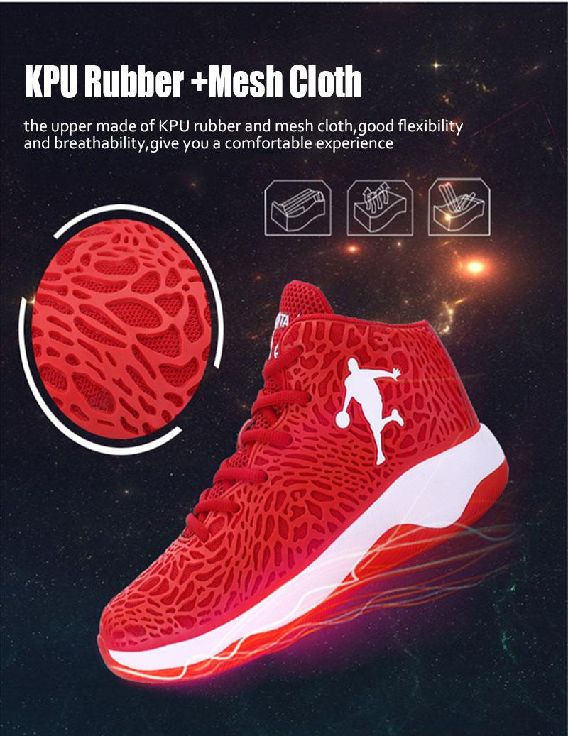 Man Light Jordan buty do koszykówki oddychająca antypoślizgowa Koszykówka sneakers mężczyźni Lace up Sport Gym kostki buty buty Basket Homme