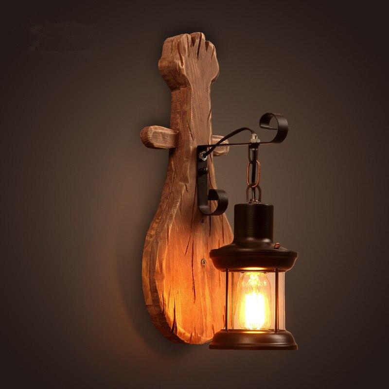 ՆՈՐ ձեղնահարկ Ամերիկյան Retro Solid Wood Wall - Ներքին լուսավորություն - Լուսանկար 4