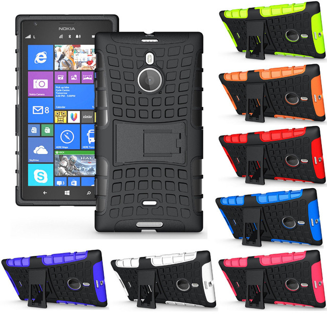 newest a1dbd 56306 US $4.99 |for Nokia Lumia 1520 case stand view holder dual cover shock  protection armor flexible grip case for Nokia Lumia 1520 case-in Fitted  Cases ...
