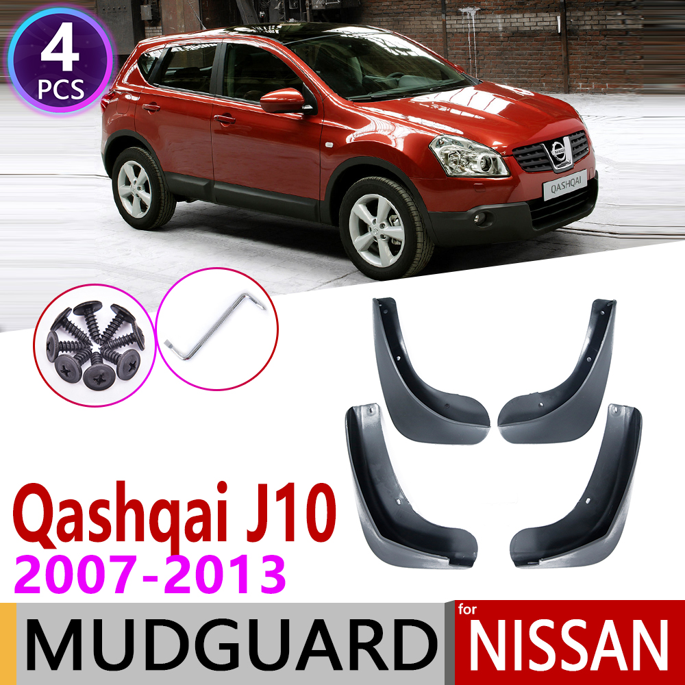 Car Mudguards for Nissan Qashqai J10 2007 2008 2009 2010 2011 2012 2013 Mudguard Mud Flaps Guard Splash Flap Fender  Accessories