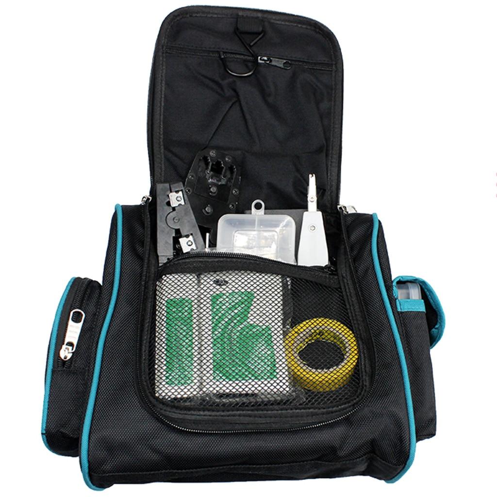 Hardware Machinist Toolkit Handbag Waterproof Oxford Cloth Multi Zipper Organize Pockets Storage Pouch Portable Worker Supply