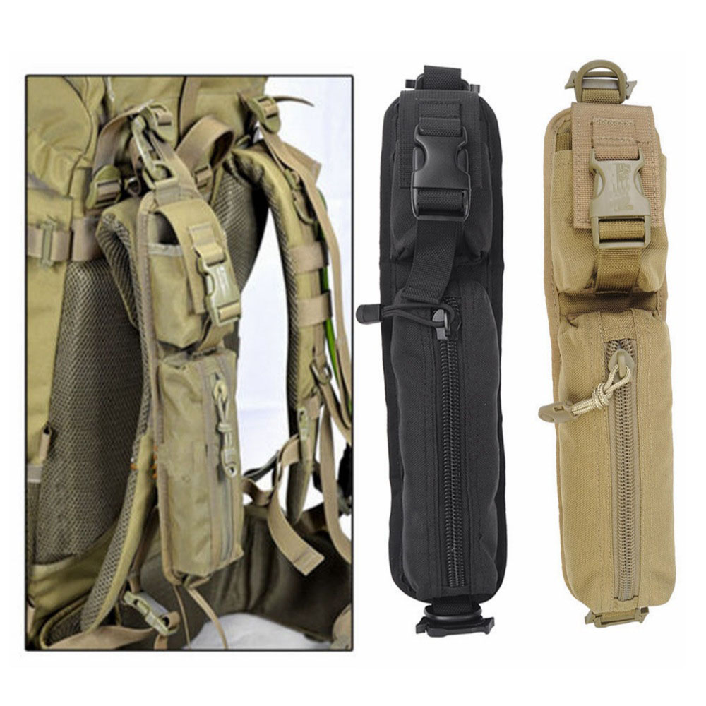 Tactical Military Molle Sundries Accessory Backpack Shoulder Strap Bag Tools Pouch Outdoor Black/Tan