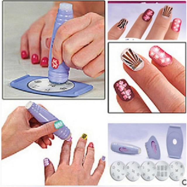 Salon Express Pro Nail Art Stamping,Nail Print Gel Polish Design ...