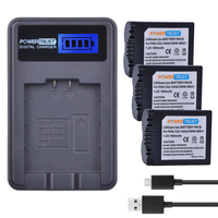 PowerTrust 3x CGA S006 CGR CGA S006E S006A S006 DMW BMA7 Battery +LCD USB Charger for Panasonic DMC FZ7 FZ8 FZ18 FZ28 FZ30 FZ35