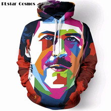 PLstar Cosmos Hot Men Women pullover Pablo Escobar Work of Art 3D printing Hooded sweatshirts Streetwear Creative Casual Hoodies
