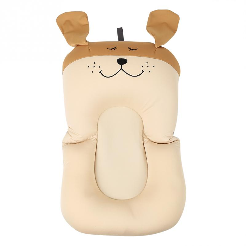 Мягкая подушка для ванны для новорожденного ребенка, плавающая Подушка с воздушной подушкой, подушка для купания малыша, подушка для душа, пищевая пена - Цвет: Brown Dog