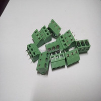 100PCS 3 Pin Screw Terminal Block Connector 5mm Pitch 5 08 301 3P 301 3P 3pin