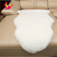 60 180cm Hairy Imitation Wool Carpet Sheepskin Chair Cover Faux Mat Seat Pad Fluffy Area Bedroom