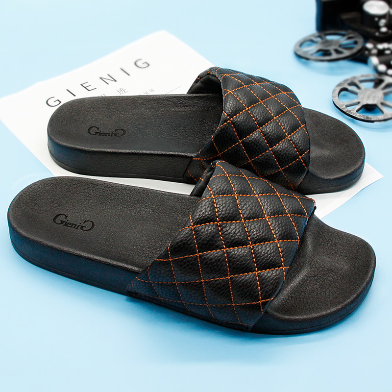 GieniG 2018 summer men slippers a simple one with a thick bottomed leisure cool trend student anti skid wear resistant home