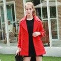 2016 Winter Women's Jackets and Coats New Double Button Elegant Woolen Cashmere Woolen Coat