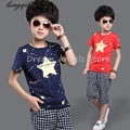 Boy clothes 2017 Brand summer kids clothes sets t-shirt+pants suit clothing set Star Printed Clothes newborn sport suits