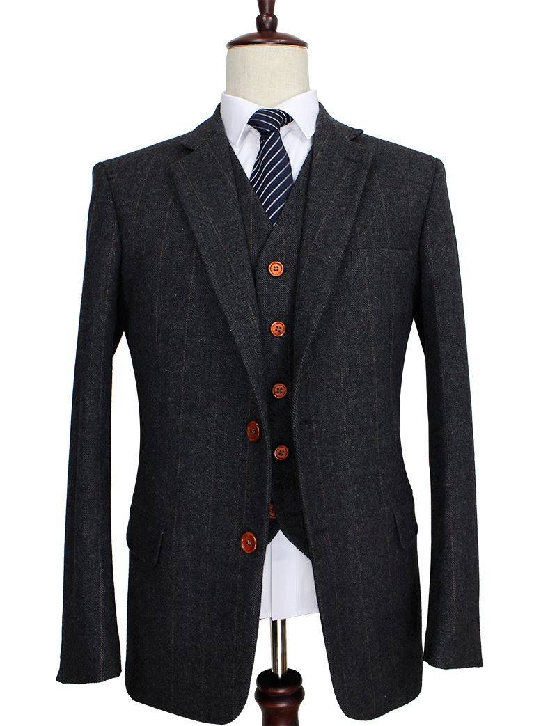 Tweed overcoats for men