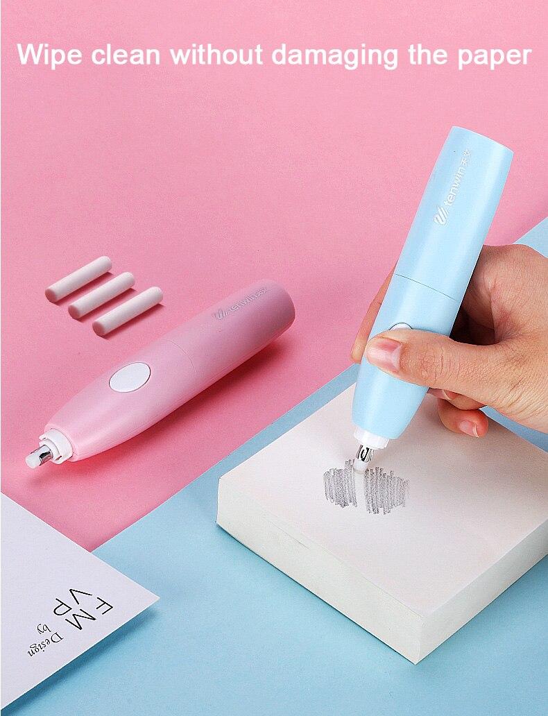 3 pçs conjunto de papelaria elétrica lápis