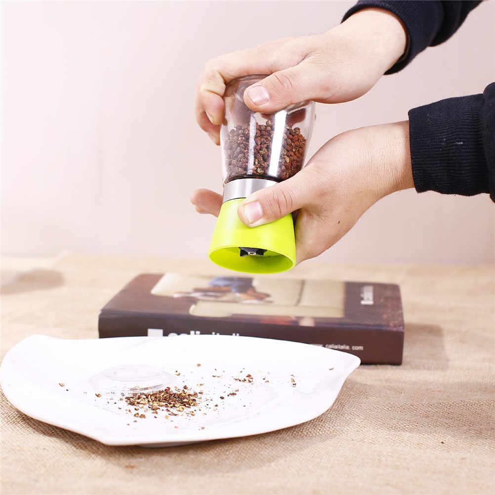 Botellas de condimento de semillas de sésamo, molinillo de cristal de pimienta negra, botella de condimento de cerámica Manual para el hogar