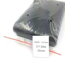 Monofilament pour la Capture de chauves souris pour oiseaux agricoles, 3x10m, 15x15mm, 0.11mm, 1 pièce, livraison gratuite
