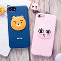 Korea Cute Kakao Friends Honey Peach NEO Apeach Ryan Soft Silicon Case Cover With Same Paragraph Lanyard For Iphone6S 7 4.7inch