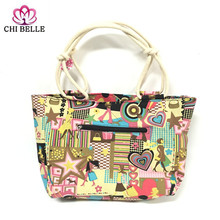 2017 High Quality Large Capacity Shopping Mummy Bag Folding Canvas Womens Stripes Beach Bags Handbag Shoulder chibell