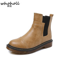 Spring Winter Fur Womenen S Chelsea Boots British Style Fashion Ankle Boots Black Brown Grey Brogues