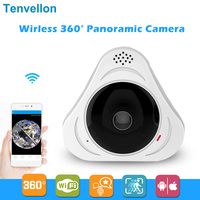 960P 3D VR WI FI Camera 360 Degree Panoramic IP Camera 1.3MP FIsheye Wireless Wifi Smart Camera TF Card IR Baby Monitor Remote