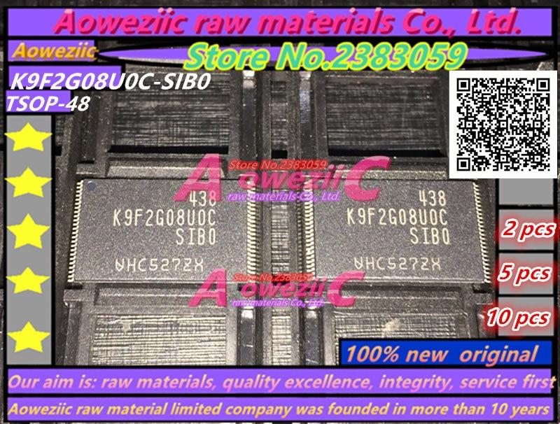 Aoweziic 100% EW оригинальный K9F2G08U0C-SIB0 K9F2G08U0C-SIBO TSOP48 микросхемы памяти K9F2G08U0C SIB0