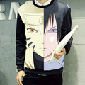 Spring Men women Hoodies NARUTO whirlpool Uchiha Sasuke Cartoon cool Long sleeves Sweatshirts hoodies Jacket cartoon coats