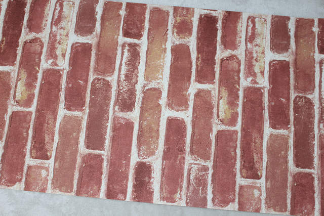 Placeholder Haokhome D Vintage Faux Brick Textured Wallpaper Rolls Red Brown Wheat Rust Brick Stacked