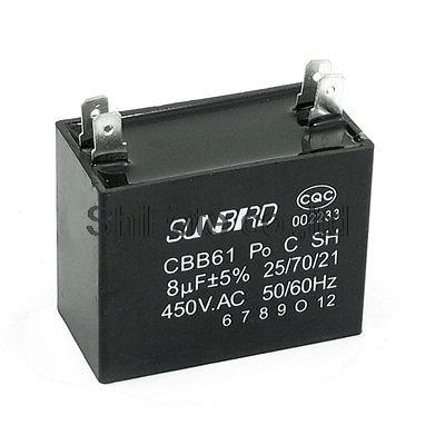 4 pin 6UF 50 // 60 Hz CBB61 motor capacitor air conditioner AC 450 V