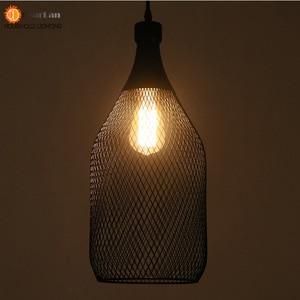 Image 5 - Vintage Iron Bottle Shape Indoor Pendant Lamp E27 Lamp Holder Black Pendant Lighting For Foyer/Coffee House/Dining Hall(DX 50)