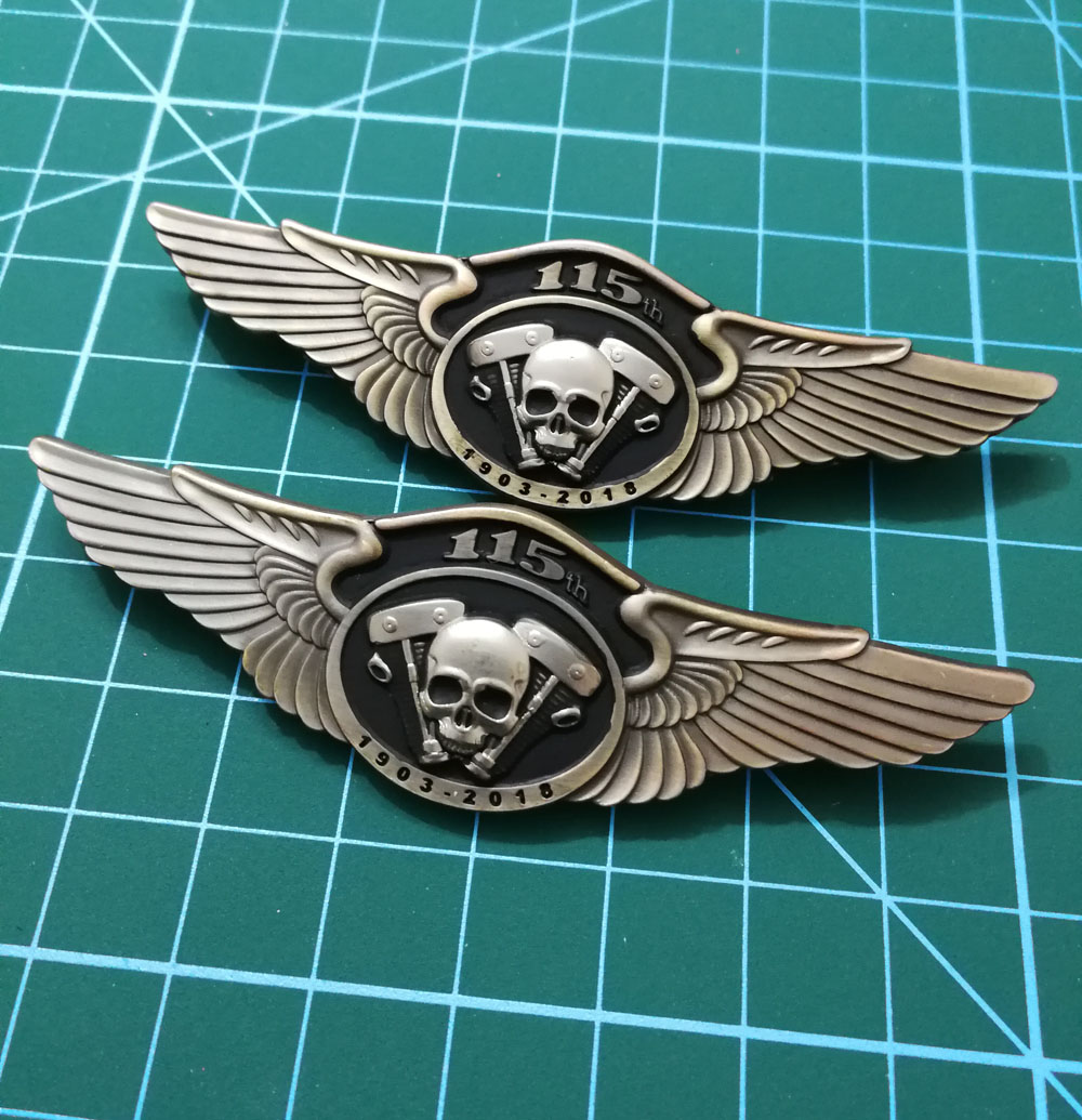 115th Anniversary Motorcycle Club Biker Brooches Pins For The Jacket Shoes Clothing Vest Badges Skull Wings Hat Pins Brooches Home & Garden Arts,crafts & Sewing