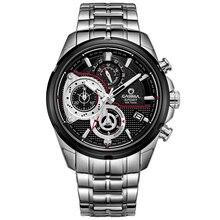 Luxury Brand Мужчины Спортивные часы кварц секундомер случайных очарование relogio masculino Световой водонепроницаемый 100 м CASIMA #8303