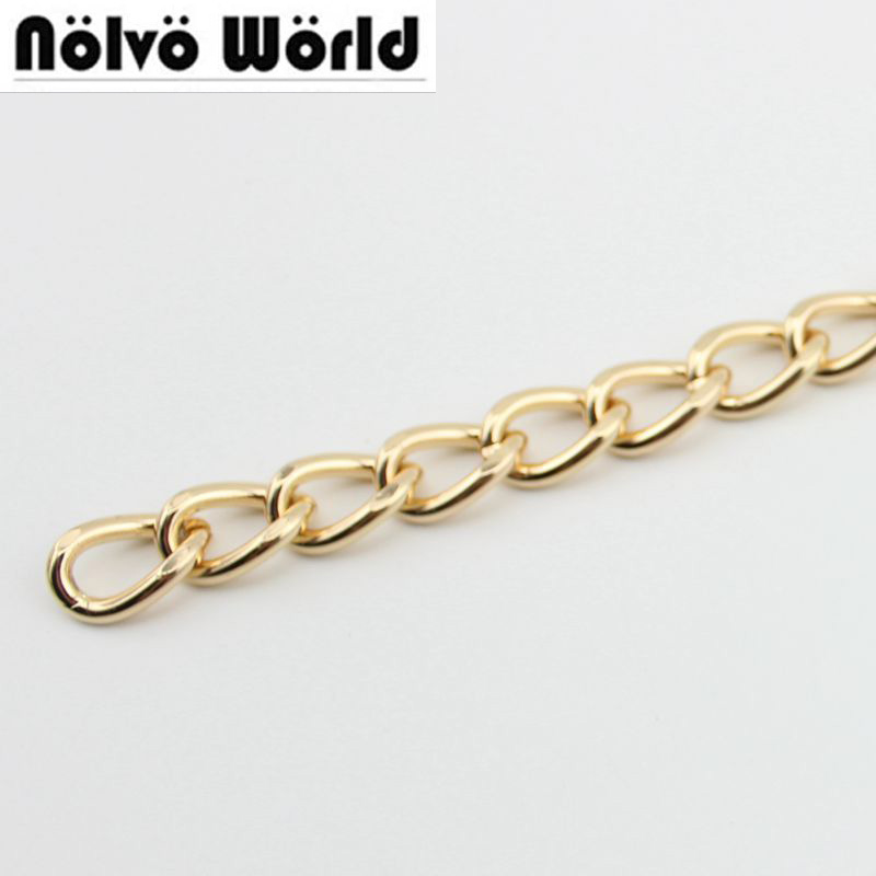10 Meters 5 Meters Chain 12mm Roller Metal BIG Gold Chain For Hand Bags Long Strap Replacement