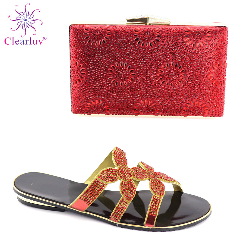Shoes and Bag To Maching Italian Design Shoe and Bag Set For Party Nigerian Women Fashion Shoe and Bag Set